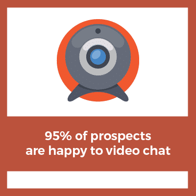 social media recruiting tip 95% of prospects are happy to video chat